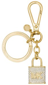 Michael Kors NEW Michael Kors Gold lock Logo Keychain with Pouch