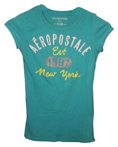 Aropostale Casual T Shirt Turquoise