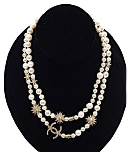 Chanel Chanel Chanel Classic CC Gold, Pearl Crystal Necklace