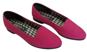 Perry Ellis Size 7.50 M Very Good Condition Pink Flats