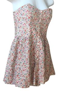 Anthropologie short dress Cream with floral on Tradesy