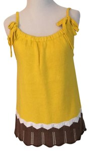 Magaschoni Top Yellow (w/white and brown)