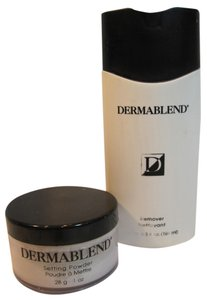 DERMABLEND DERMABLEND Setting Powder (28g/ 1-oz) & Remover (186ml/6.3 Fl. Oz.) - [ Roxanne Anjou Closet ]