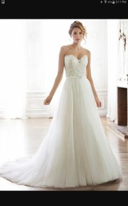 Maggie Sottero Ivory Tull Enza Traditional Wedding Dress Size 16 (XL, Plus 0x)