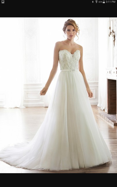 Maggie Sottero Ivory Tull Enza Traditional Wedding Dress Size 16 (XL, Plus 0x) Maggie Sottero Ivory Tull Enza Traditional Wedding Dress Size 16 (XL, Plus 0x) Image 1