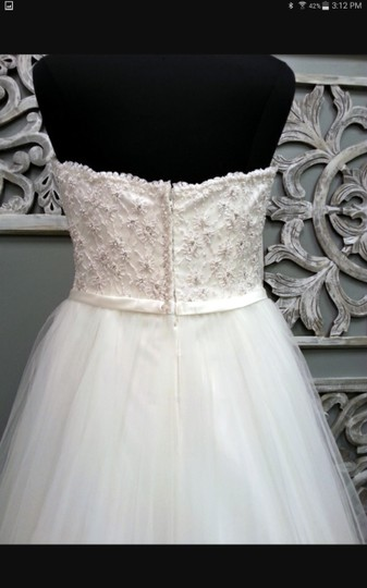 Maggie Sottero Ivory Tull Enza Traditional Wedding Dress Size 16 (XL, Plus 0x) Image 2