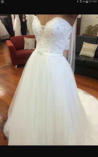 Maggie Sottero Ivory Tull Enza Traditional Wedding Dress Size 16 (XL, Plus 0x) Image 5