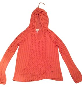 O'Neill Pink Crochet Cover Up Hoodie