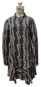 Free People short dress Black and floral on Tradesy