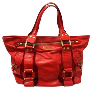 Jimmy Choo Suede Leather Classic Tote in Red