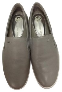 Michael Kors Leather Slip On Sneaker Gray and Silver Flats