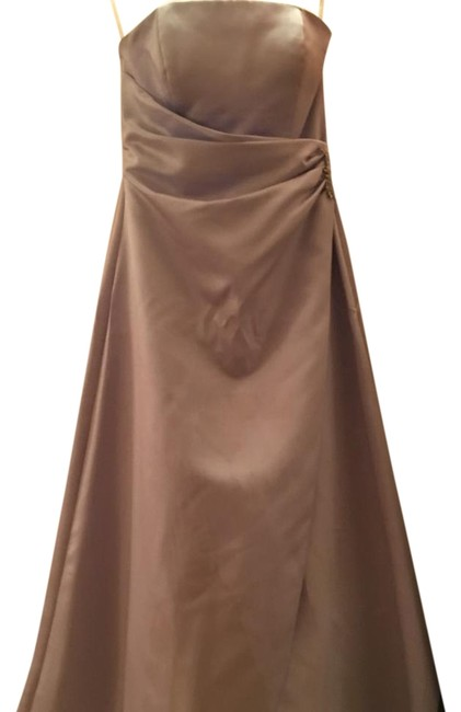 Item - Lilac Satin Gown 8567 Formal Bridesmaid/Mob Dress Size 2 (XS)