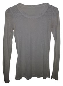 Maurices Longsleeve Sheer T Shirt Off white