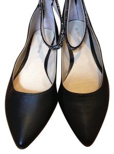 BCBGeneration Sparkly Pointy Toe Wedding Black Flats