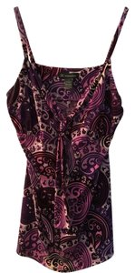 INC International Concepts Camisole Top Purple and fuschia