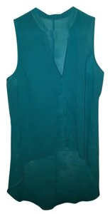 Maurices Sleeveless Long Back Top Teal