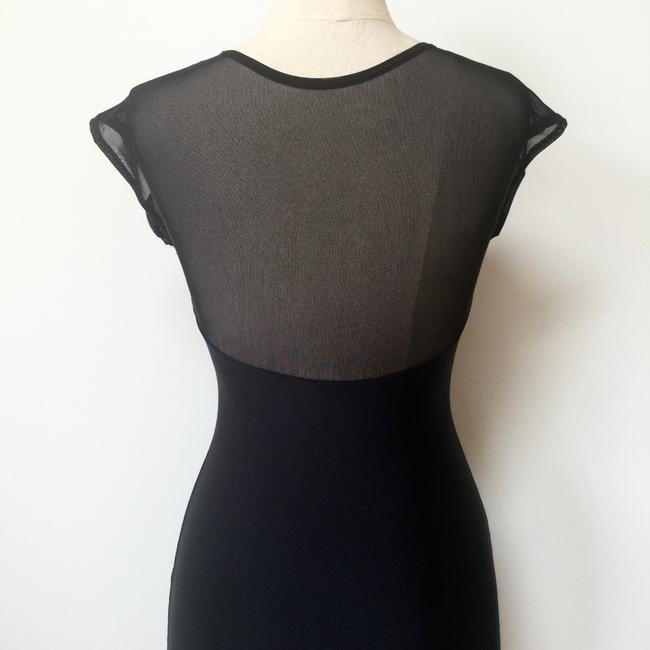 American Apparel Bodycon Sheer Sweetheart Evening Backless Dress Image 1