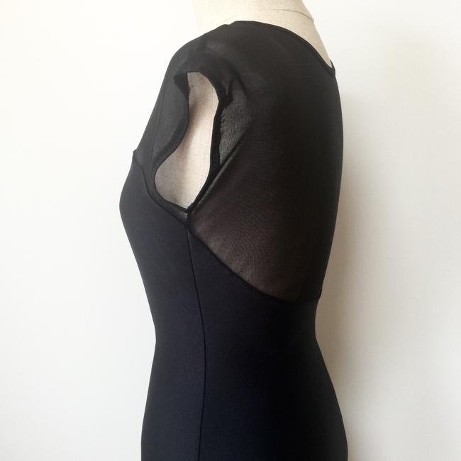 American Apparel Bodycon Sheer Sweetheart Evening Backless Dress Image 3