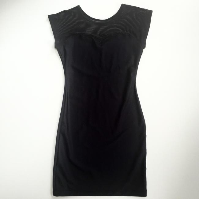 American Apparel Bodycon Sheer Sweetheart Evening Backless Dress Image 7
