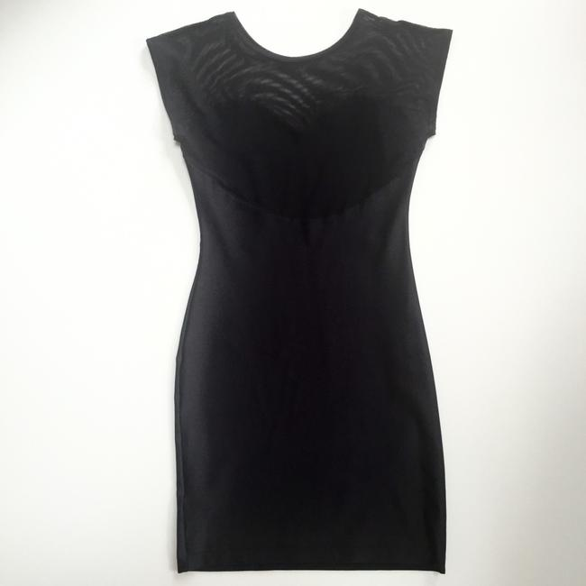 American Apparel Bodycon Sheer Sweetheart Evening Backless Dress Image 8