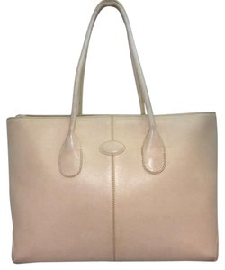 Tod's Beige Leather Tote