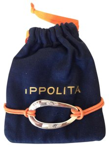 Ippolita Orange cord Ippolita bracelet with sterling silver oval ornament