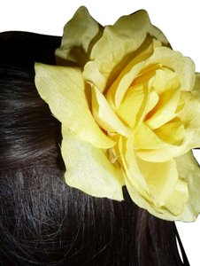 Yellow Rose Hair Clip and Pin