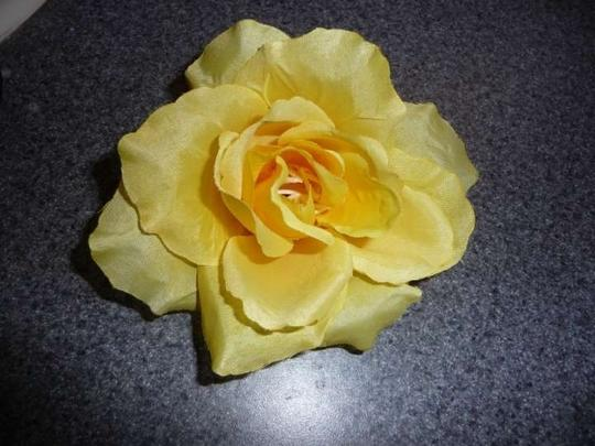 Other Yellow Rose Hair Clip and Pin
