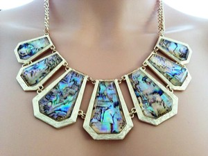Lydell NYC Gold Iridescent Necklace