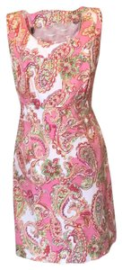 Jones New York short dress Pink multi on Tradesy