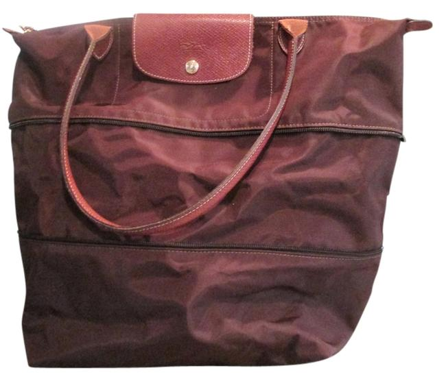 Item - Expandable Tote - Le Pliage Chocolate Nylon Weekend/Travel Bag