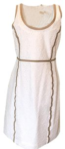 MICHAEL Michael Kors short dress White w tan trim on Tradesy