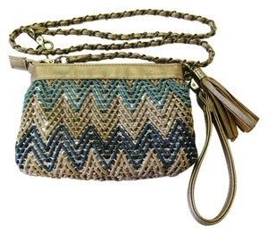 Big Buddha Chevron Convertible Crossbody Metallic Bronze, Teal, Silver Clutch