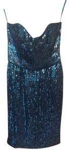 French Connection Sequin Sweetheart Sparkle Date Night Vintage Dress