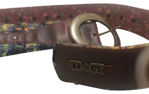 Dolce&Gabbana Dolce & Gabbana leather and tweed belt