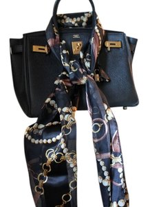 Other Black link silk scarf