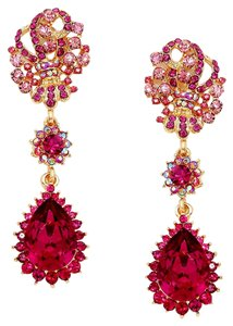 Other Fuchsia Pink Rhinestone Crystal Earrings