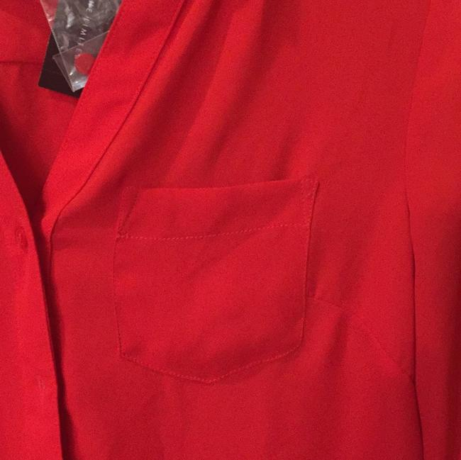 The Limited Button Down Shirt Red Image 1