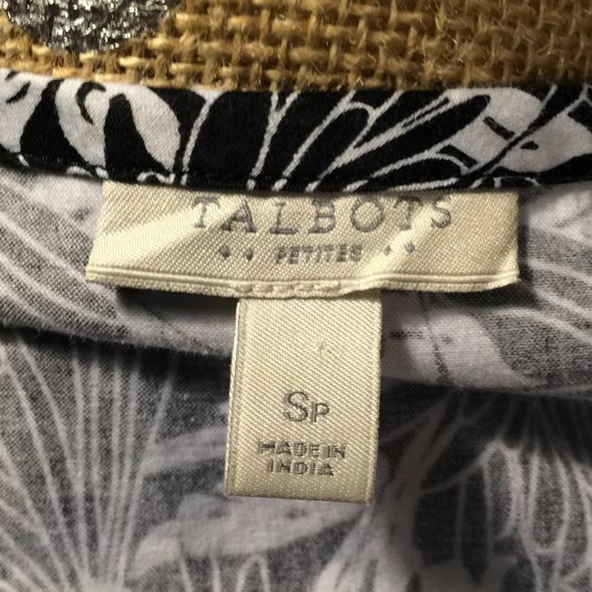Talbots Top Black and White Image 5