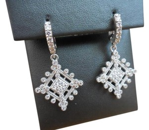 Judith Ripka New $495 Art Deco Lever Back Drop Earrings ~ Deco Estate Collection