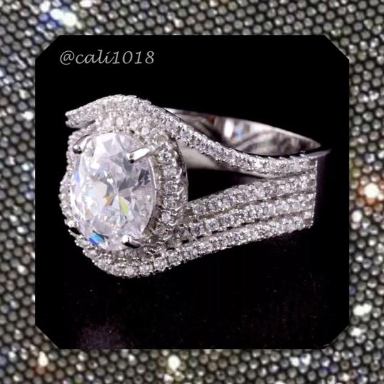 Other New High Quality CZ Stones & .925 Stamped Sterling Silver Eternity Band Ring Image 1