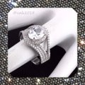 Other New High Quality CZ Stones & .925 Stamped Sterling Silver Eternity Band Ring Image 2
