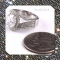 Other New High Quality CZ Stones & .925 Stamped Sterling Silver Eternity Band Ring Image 3