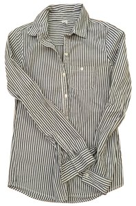 Nordstrom Button Down Shirt White and dark gray stripes