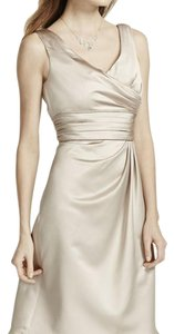 David's Bridal Champagne F14823 Dress