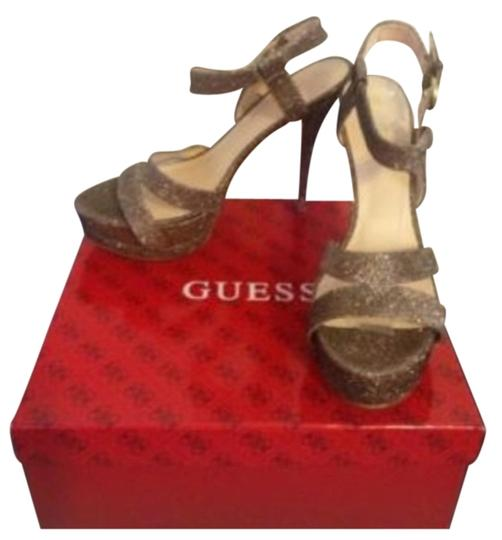 Guess Glitter Gold Pumps
