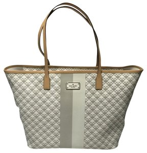 Kate Spade Penn Place Grey Tote in Grey/White