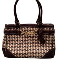 Coach Satchel in Houndstooth Brown Image 0