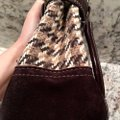 Coach Satchel in Houndstooth Brown Image 11