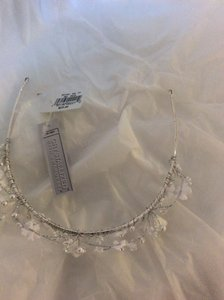 White Flower Girl Tiara With Swarovski Crystal